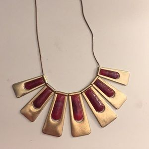 Maroon necklace - so cute!
